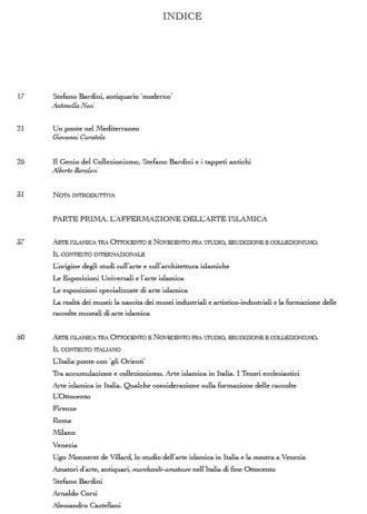 Sommario_Una miniera inesauribile. Collezionisti e antiquari di arte islamica. L'Italia e il contesto internazionale tra Ottocento e Novecento_maschietto